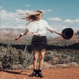 NastyGal Fringe Watch Mini Skirt